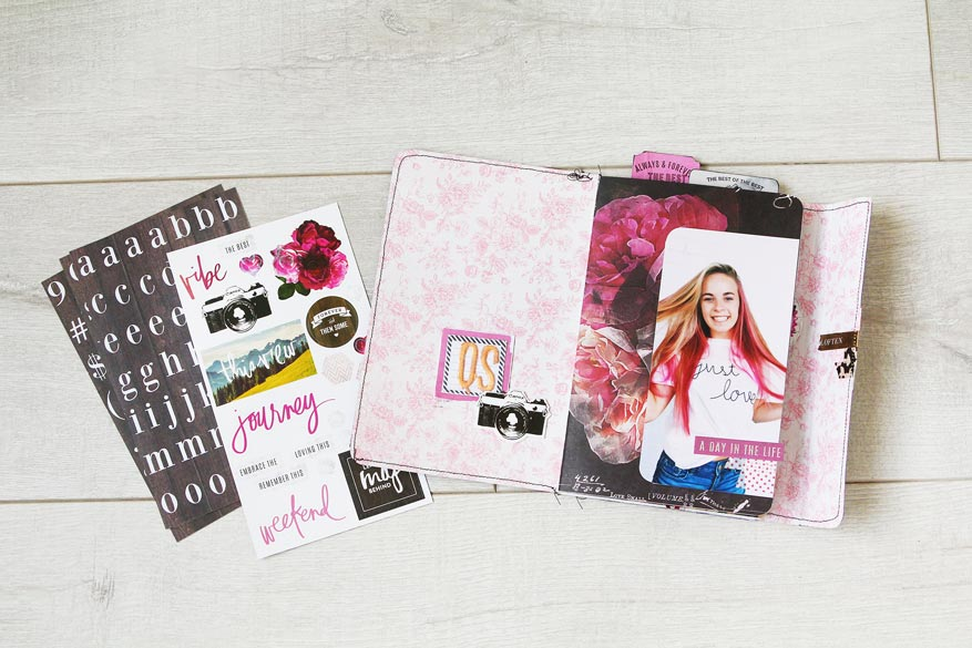 Heidi Swapp Hawthorne Mini Book full tutorial by @heidiswapp