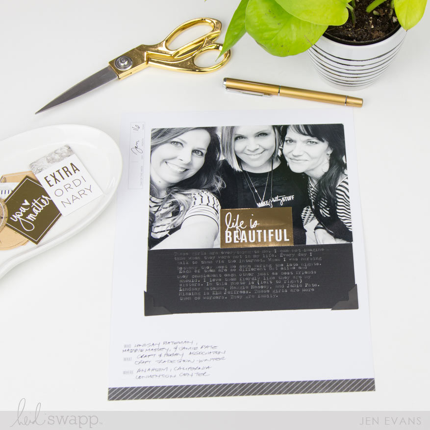 How to scrapbook a page in under 5 minutes by @createoften for @heidiswapp