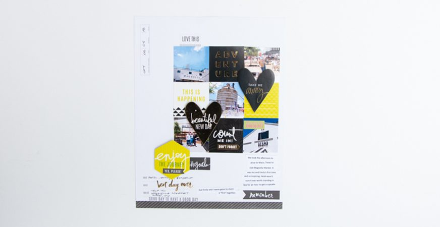 An easy way to get more photos on a scrapbook page by @createoften for @heidiswapp and Michaels Stores
