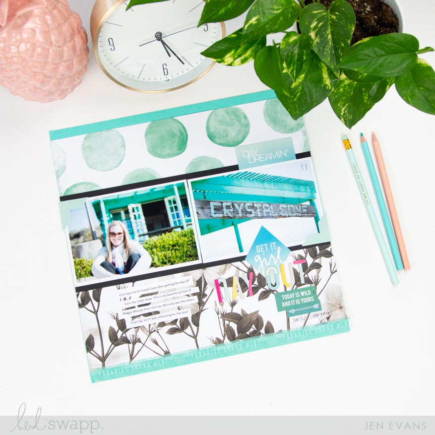 Go Bold with Color on a Scrapbook Page | Using Pineapple Crush collection by @createoften for @heidiswapp