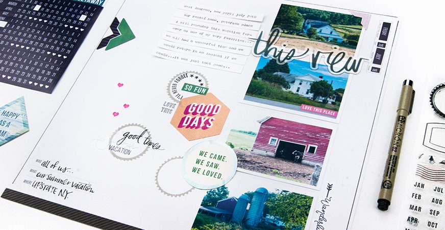 Using Hawthorne Stamps on Your Storyline Layout | Maggie Massey for Heidi Swapp