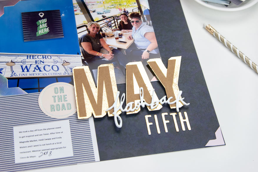 May Flashback | Scrapbook Layout using Hawthorne | @createoften for @heidiswapp