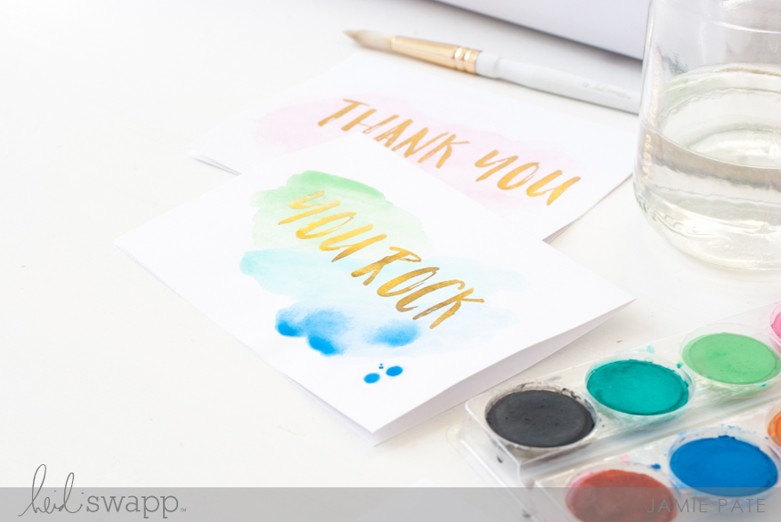 Heidi Swapp Minc It Monday ~ Foiled Brush Stamp by Jamie Pate | @jamiepate for @heidiswapp