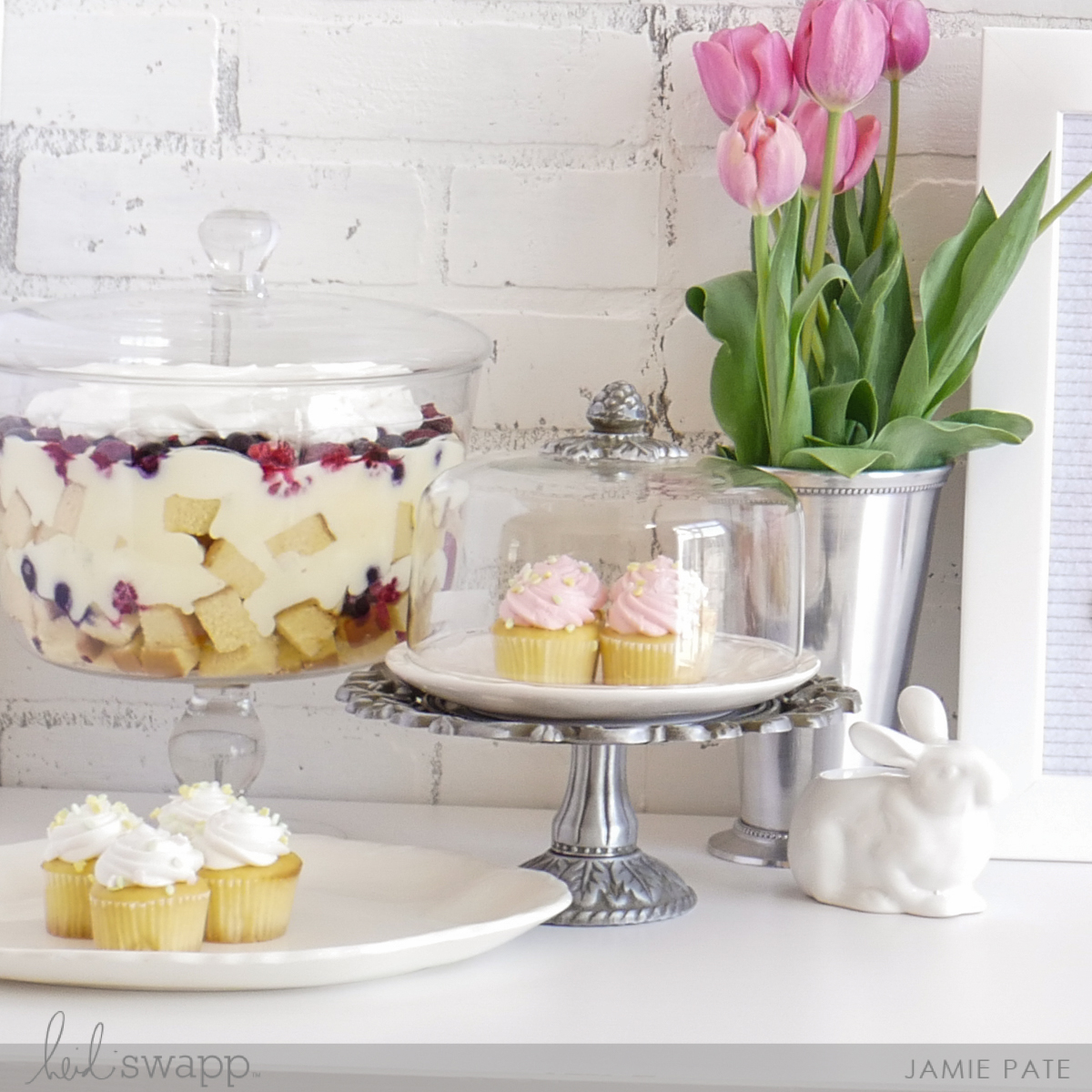 Easter Dessert Table and Heidi Swapp Letterboard by Jamie Pate | @jamiepate for @heidiswapp