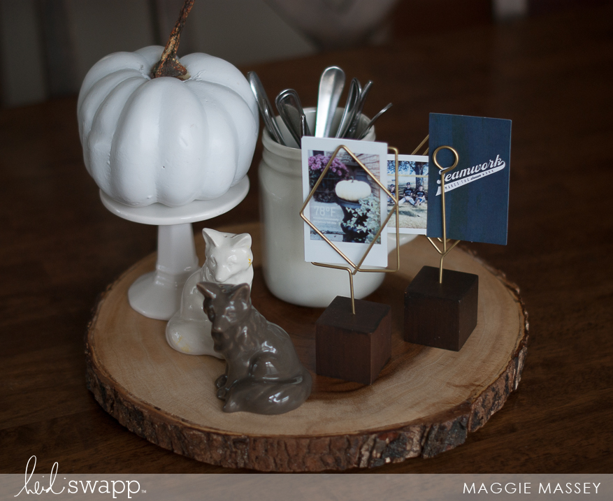 Easily create an autumn centerpiece with Instax Vintage | Maggie Massey for Heidi Swapp