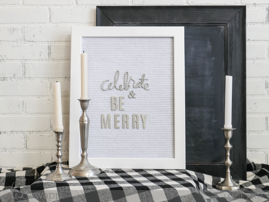 5 Ways to a Christmas Vignette using Heidi Swapp Letterboard by Jamie Pate | @jamiepate for @heidiswapp
