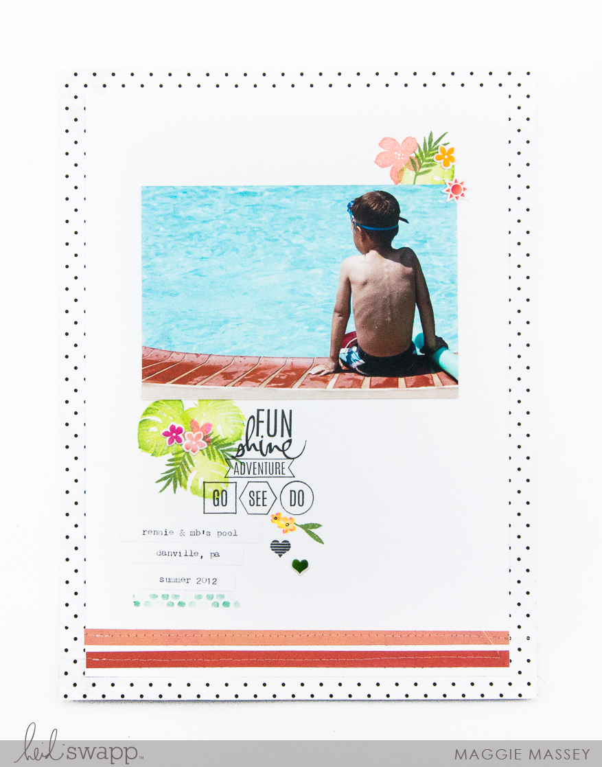 A look at the new stamps from the Heidi Swapp Pineapple Crush Collection | Maggie Massey for Heidi Swapp