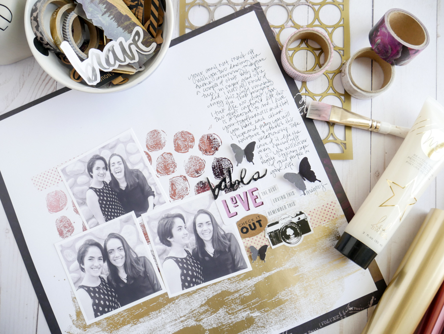 How To Create a Background with Heidi Swapp Minc Foils by Jamie Pate | @jamiepate for @heidiswapp
