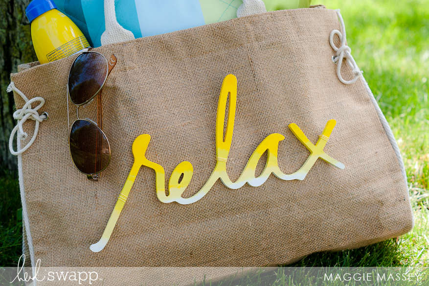 Heidi Swapp Wall Words + Beach Bag = YES! | Maggie Massey for Heidi Swapp