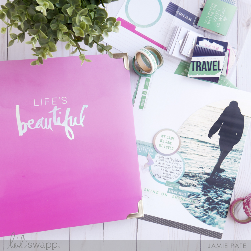 Beach Story with Heidi Swapp Swapp by Jamie Pate | @jamiepate for @heidiswapp