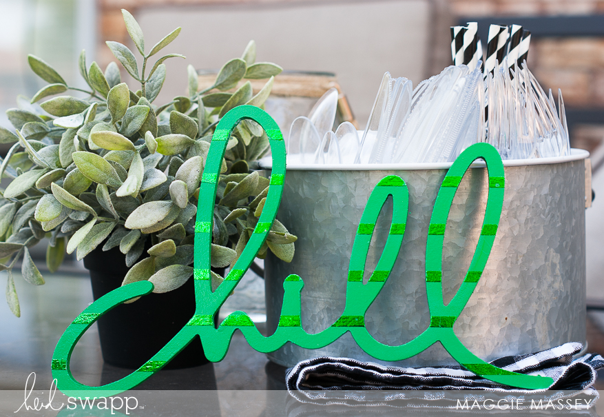 Minc Foil + Wall Words | Foiled Home Decor - Maggie Massey for Heidi Swapp