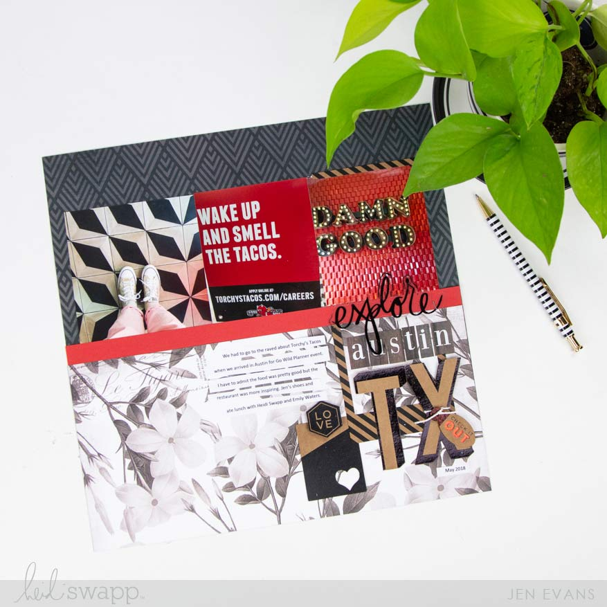 Heidi Swapp Hawthorne Collection | How to Add Color to a Scrapbook Page by @createoften for @heidiswapp