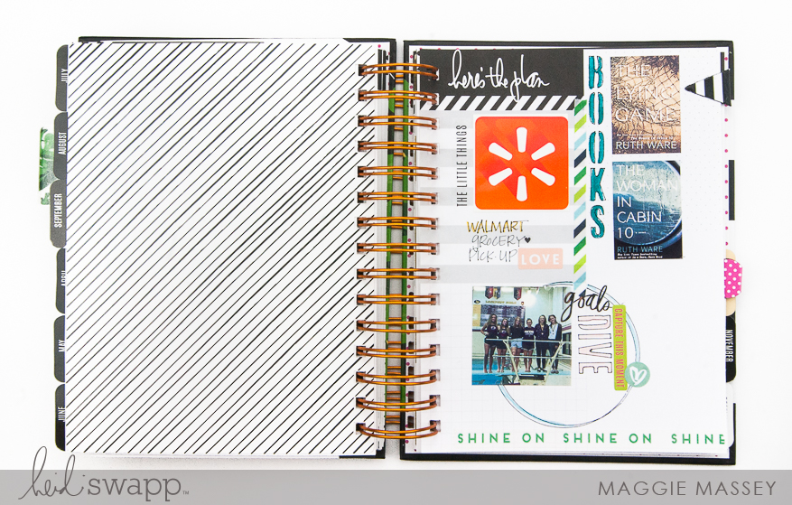 Using Washi & Stencils in my Memory Planner | Maggie Massey for Heidi Swapp